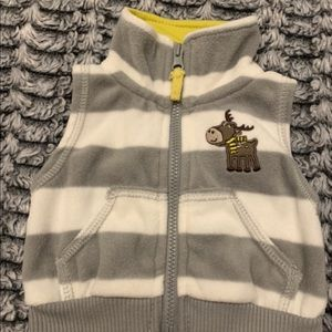 Newborn Grey and White Moose Vest